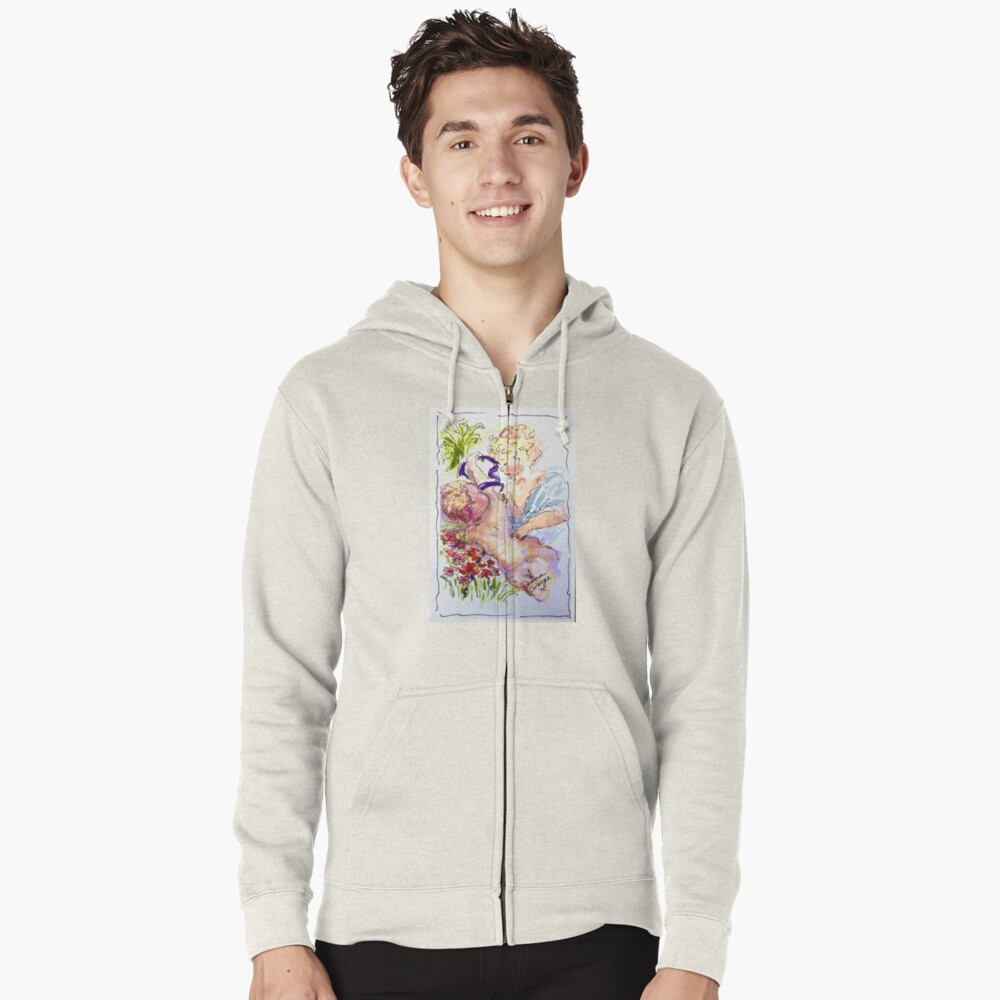 Angel of Compassion Zipped Hoodie