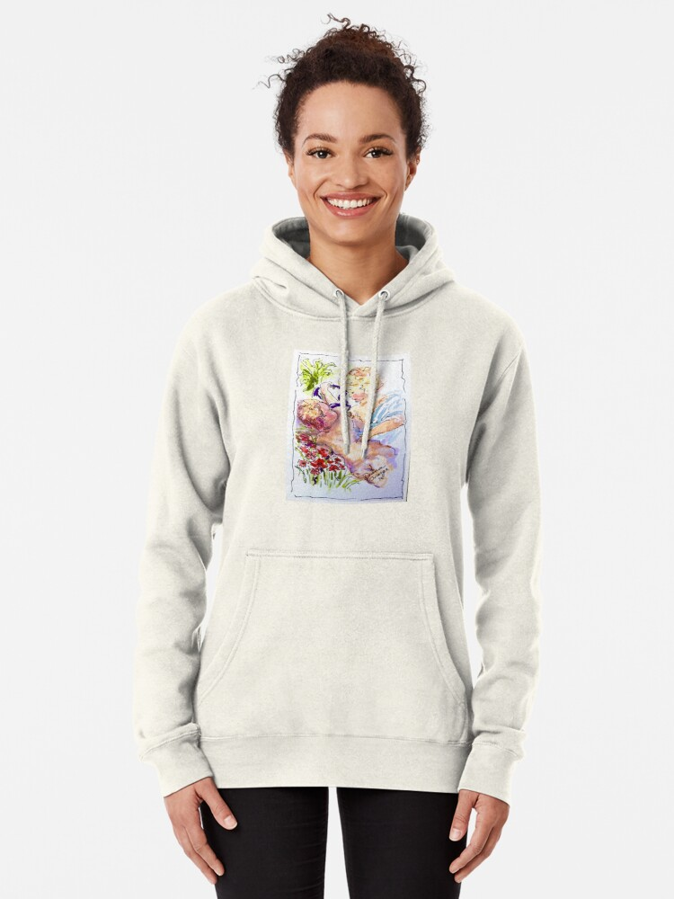Alternate view of Angel of Compassion Pullover Hoodie