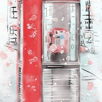 Old phone box by paintingsofi