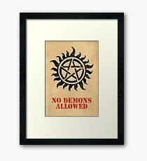 Supernatural No Demons Allowed [BLACK] Gerahmtes Wandbild