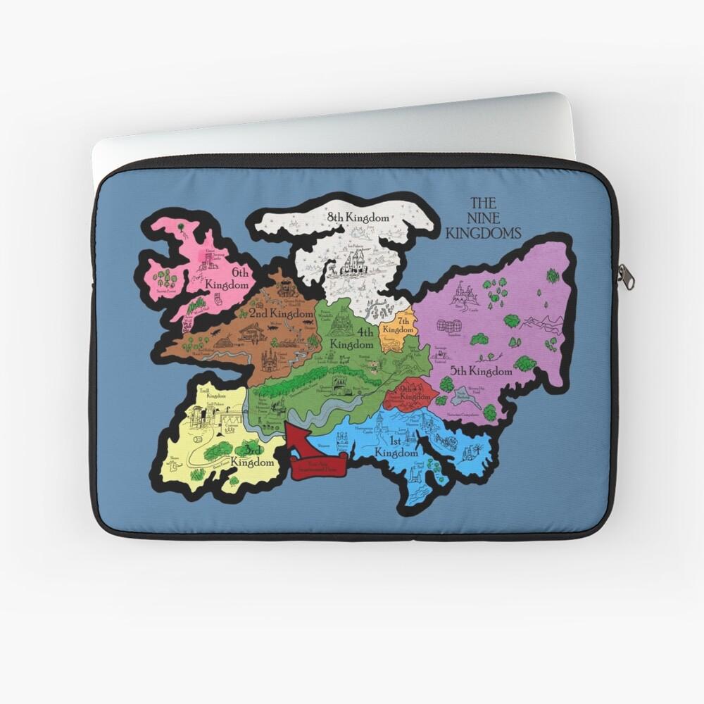 Karte der Neun Königreiche Laptoptasche