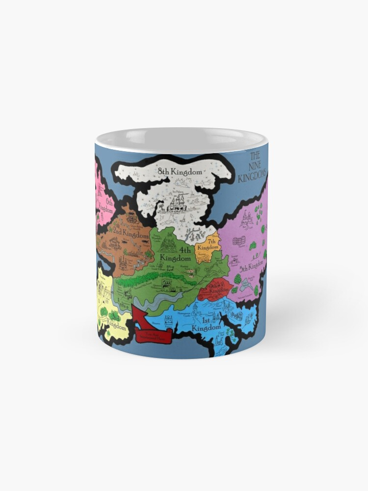 Alternative Ansicht von Karte der Neun Königreiche Tasse