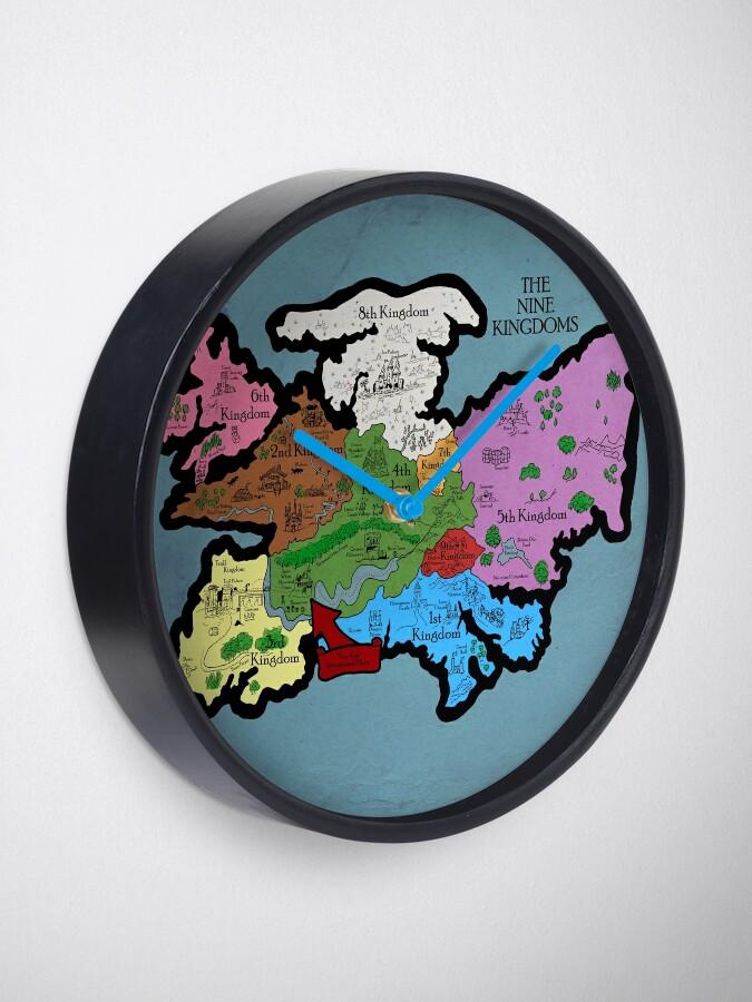 Alternative Ansicht von Karte der Neun Königreiche Uhr