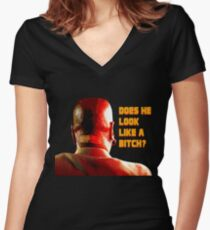 Marsellus Wallace Women's Fitted V-Neck T-Shirt