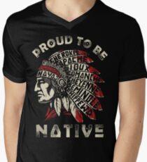 Native american shirts, No DAPL Men's V-Neck T-Shirt