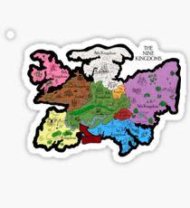 Map of the Nine Kingdoms Sticker