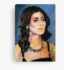 """Marina and the Diamonds 4 - """"But I believe in divinity"""" Canvas Print"""