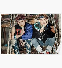 BTS YOU NEVER WALK ALONE RAP MONSTER & V Poster
