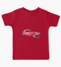 Red Vintage Car Kids Tee
