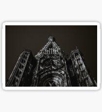 Tower of Strasbourg Cathedral isolated perspective view Sticker