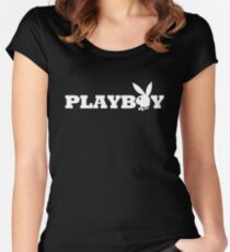 Playboy  Women's Fitted Scoop T-Shirt