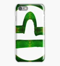 Libra and Heart Chakra Abstract Spiritual Artwork  iPhone Case/Skin