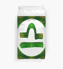 Libra and Heart Chakra Abstract Spiritual Artwork  Duvet Cover