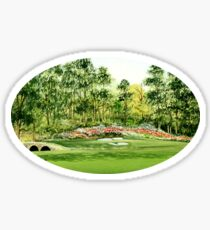 Amen Corner 12th Hole Sticker