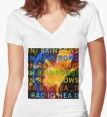 In Rainbows Artwork Reproduction using watercolours, ink and photoshop Women's Fitted V-Neck T-Shirt