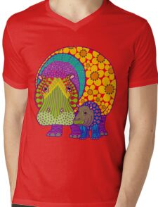 Hippiepotamus & Baba Mens V-Neck T-Shirt