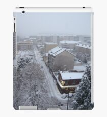 Town under the snow iPad Case/Skin