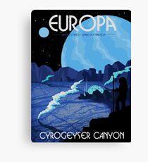 Europa Tourism Poster Canvas Print