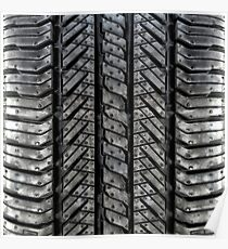 Rubber Tire Threads Poster