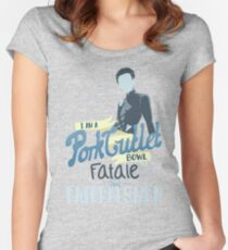 Pork Cutlet Bowl Women's Fitted Scoop T-Shirt