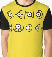 Send Nudes - Pokemon - Unown Graphic T-Shirt