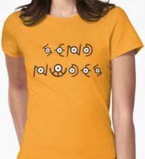 Send Nudes - Pokemon - Unown Women's Fitted T-Shirt