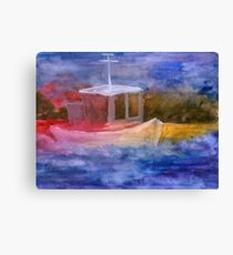 dumb boat in primary colors Canvas Print