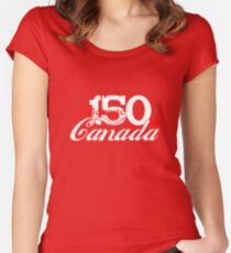 Celebrate Canada 150 Women's Fitted Scoop T-Shirt