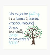 Falling In A Forest Art Print