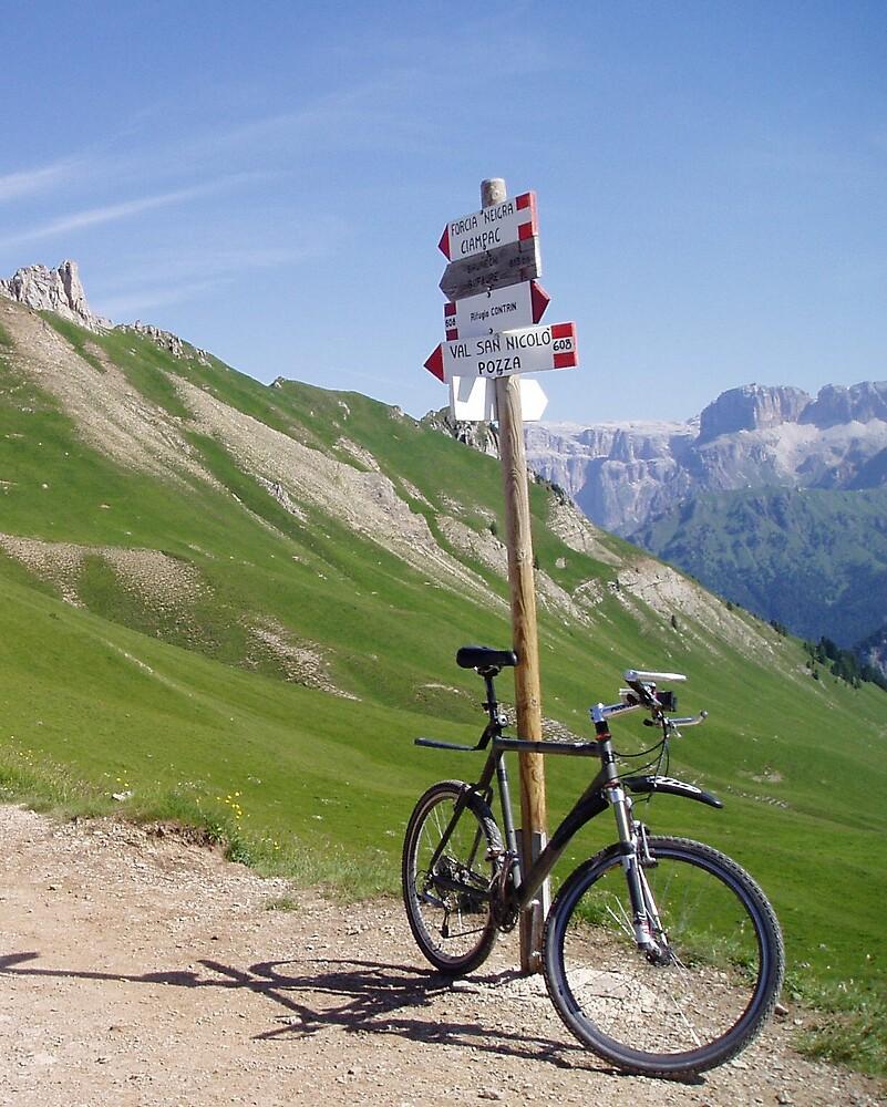 Biking in the dolomites by Kath Cashion