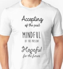 Mindfulness Quote Slim Fit T-Shirt