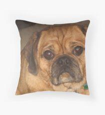 Pugalier (a fat one) Throw Pillow