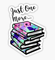 Just One More Book Sticker