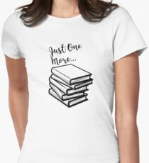 Just One More Book 2 Womens Fitted T-Shirt