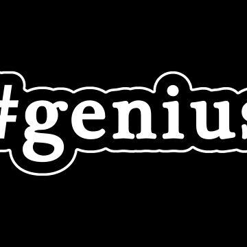 Genius - Hashtag - Blanco y negro de graphix