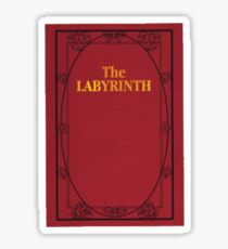 Labyrinth book-red Sticker