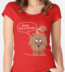 Moo. I'm a horse Women's Fitted Scoop T-Shirt