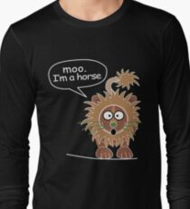 Moo. I'm a horse Long Sleeve T-Shirt