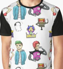 YouTubers as Undertale Characters Graphic T-Shirt