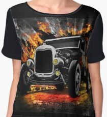 HOTROD Montage...with Flames. Chiffon Top