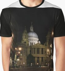 Night view of St Paul's Cathedral  Graphic T-Shirt