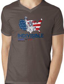 Indivisible: Liberal Anti Trump Movement Mens V-Neck T-Shirt