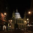 Night view of St Paul's Cathedral  by Jasna