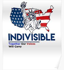 Indivisible: Liberal Anti Trump Movement Poster