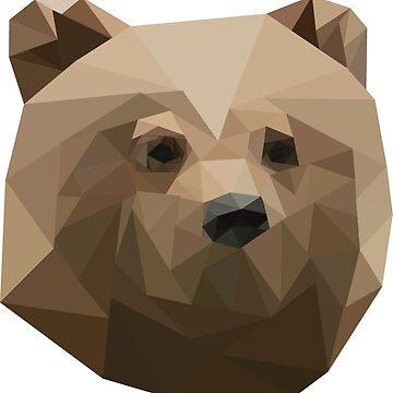 Geometric Bear by ashleyboehmer