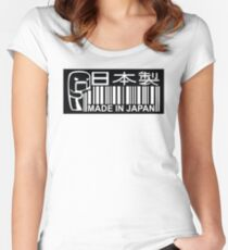 Made in Japan JDM bar code Women's Fitted Scoop T-Shirt