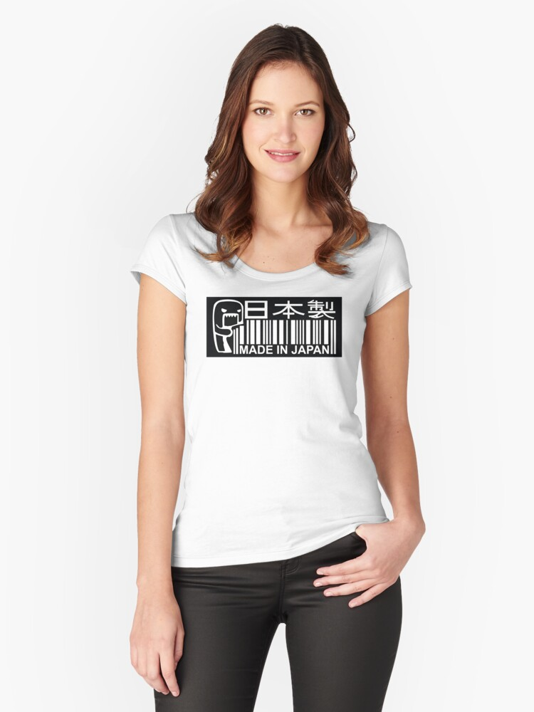 Made in Japan JDM bar code Women's Fitted Scoop T-Shirt Front
