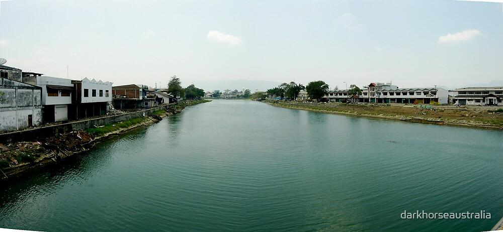 Banda Aceh - main river by darkhorseaustralia