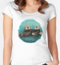 Sea Otters in Love Women's Fitted Scoop T-Shirt