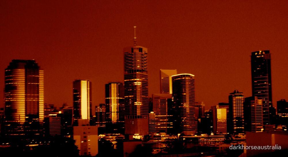 Brisbane skyline by darkhorseaustralia